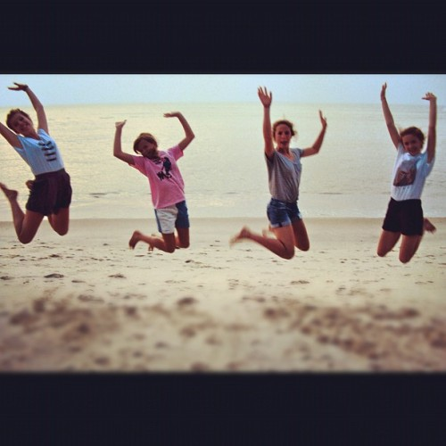 rubyandiris:  Loving my nieces zest for life …… #family #jump #fun #beach #love #zest #sun #inspiration (Taken with Instagram)