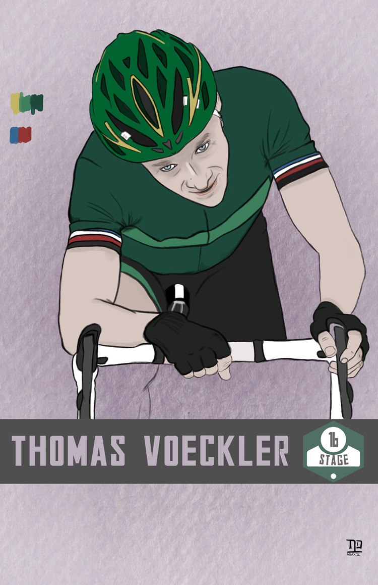 lastpolkadesign:  Tour de France: Stage 16 winner, Thomas Voeckler ©nathan dallesasse