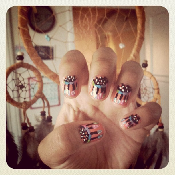 Dream catcher Nails! (Taken with Instagram)