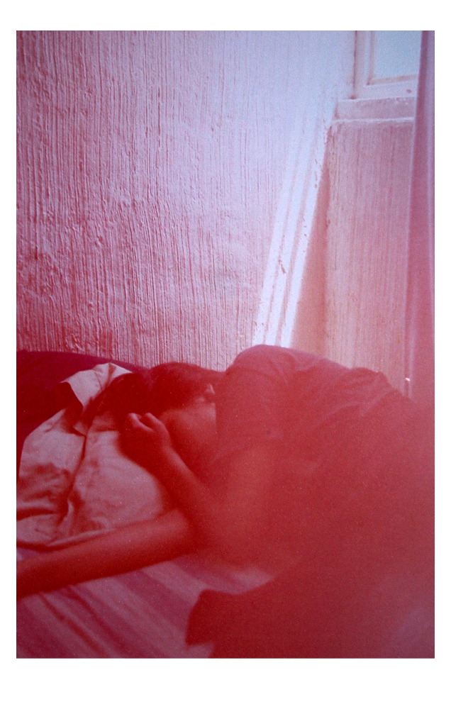 SLEEP ∞ OVER.  Olympus OM 1. 35 mm (pre-exposed) film.
