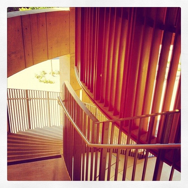 Gorgeous stairwell #latergram  (Taken with Instagram at Stanford Law School William H. Neukom Building)