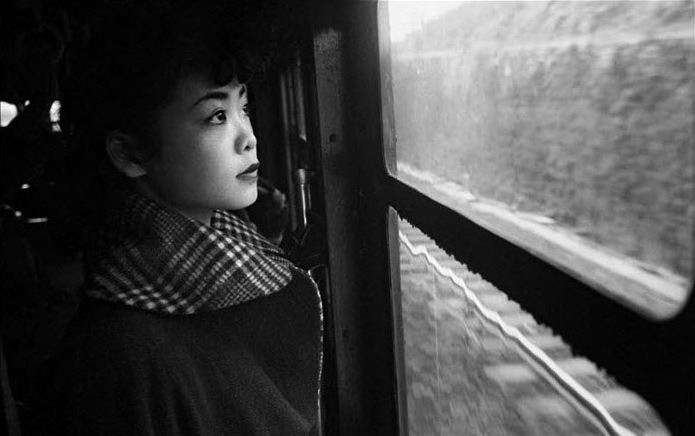 "© Werner Bischof, 1950s, Michiko Jinuma, Japan This photograph is featured in the (fantastic) video I just posted. ""Is she 'Americanized'? No, she takes on certain customs that come from America, she admires an American washing machine or a modern kitchen, but she doesn't have to have one - and that seems to me to be the critical difference, this self-restraint in character."" (Werner Bischof) » find more of Magnum Photos here «"
