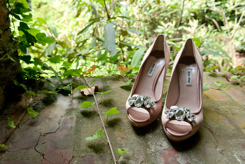 Gorgeous Mui Mui wedding shoes.