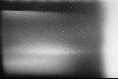 Last frame from the roll of film found in Paul Schutzer's camera after he was killed on the first day of the Six-Day War, June 1967.
