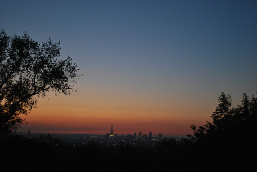 View from One Tree Hill of the London city skyline. Pretty spesh.