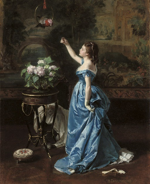 the-garden-of-delights:    Painting by Auguste Toulmouche (1829-1910).