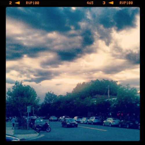 Skies over Denver (Taken with Instagram at B-cycle Station)