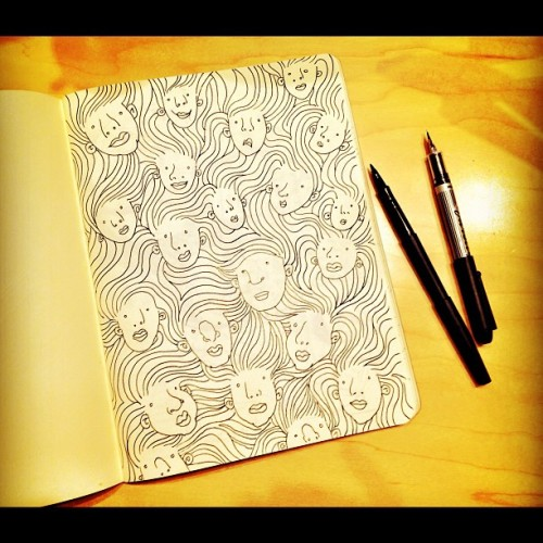 Doodle Friday #drawing #illustration  (Taken with Instagram)