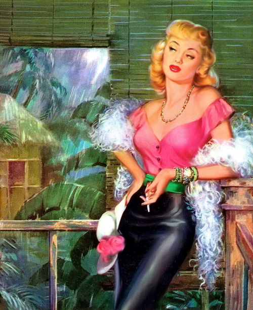 pinupgirlsart:  Victor Kalin - The Story of Sadie Thompson  One day this will be me.