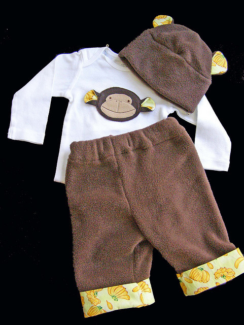 monkey onesie hat pants by gigglepotamus on Flickr.