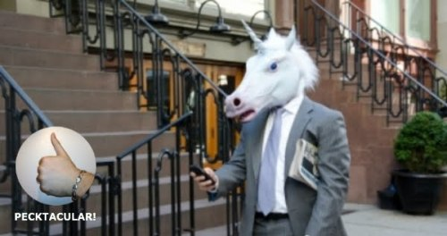 Even better than the horse head mask, well, that's up to you? The unicorn mask is perfect for any occasion, the only better mask you could buy would be a narwhale? What do you think? I think it's making me horn-y…  See what I did there? With the horn-y thing?