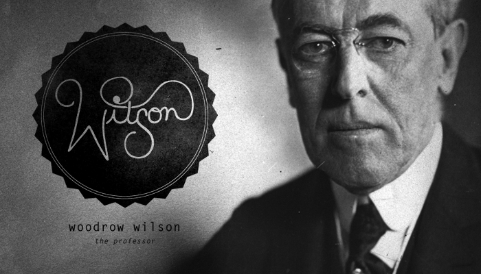 "Twenty Eighth President: Woodrow Wilson (1913-1921) Hand-drawn Type & Letter Gothic   Woodrow Wilson was known as ""the schoolmaster"" and ""the professor"" for his ability and tendency to teach his guests like a professor would. People also called him ""the phrasemaker"" because of his amazing way with words and speech writing ability."