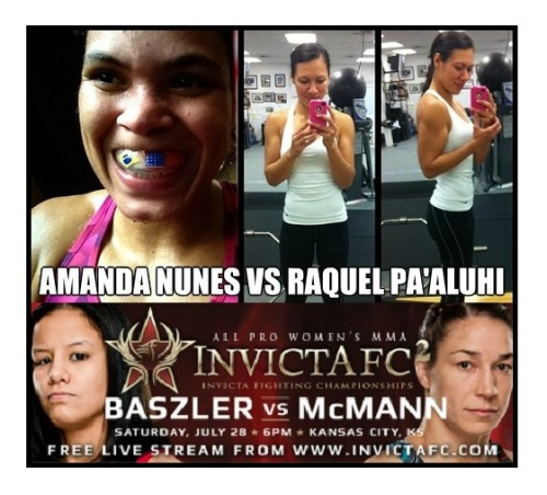 "Breaking InvictaFC News Raquel Pa'aluhi to replace Leslie Smith at InvictaFC2 With Just over a week to go Raquel ""Rocky"" Pa'aluhi 2-0 as an ammatuer & 2-2 as pro will now be stepping in to face Amanda ""The Lioness"" Nunes In Bantemweight bout at InvictaFC2.  Leslie Smith was forced off the card due to injury.  Raquel ""Rocky"" Pa'aluhi made herself known to the MMA world with Tough Battle Against Olympian Sara McMann.  Raquel has not fought since August. 27. 2011. But has been using the time to strengthen her body for a reemergence at Bantamweight.   Follow Raquel  http://twitter.com/raquelpaaluhi http://www.facebook.com/pages/Raquel-Paaluhi/185570754813853"