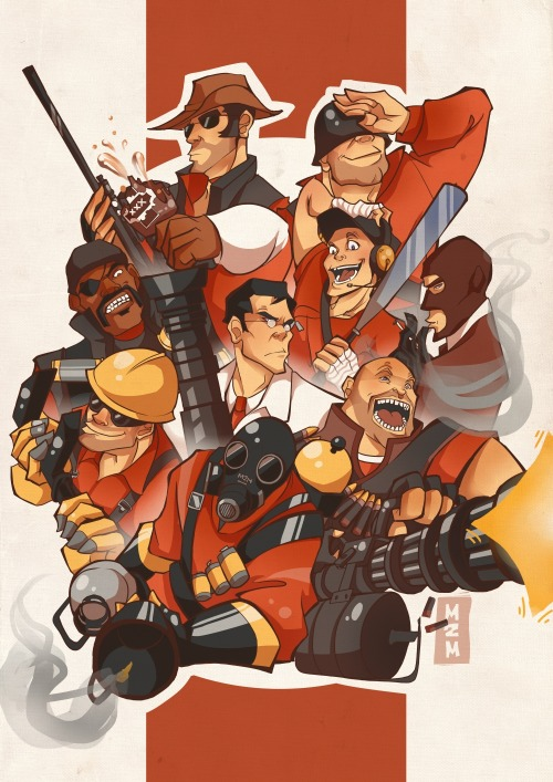 TF2 Print I'll be selling at Manifest this year :) Pyro and Medic are my preferences (via: m2manga)