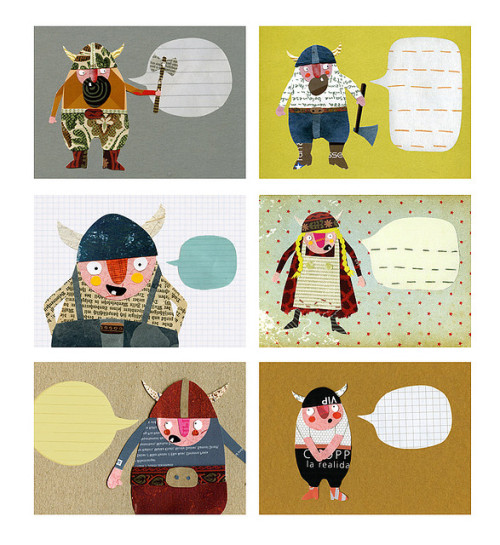 vikings greeting cards by herzensart on Flickr.
