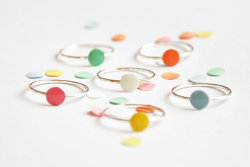 Confetti Rings from Twinklebird Etsy Shop