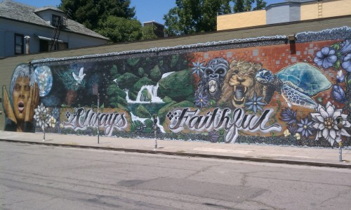 always faithful street art:  oakland - telegraph