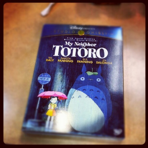 My cinematic life is pretty much complete!!! #myneighbortotoro #totoro #childhood (Taken with Instagram)
