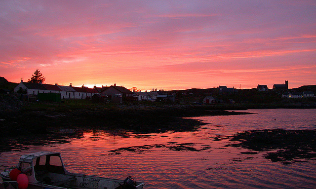 Sunset on Coll by Hugh Spicer on Flickr.