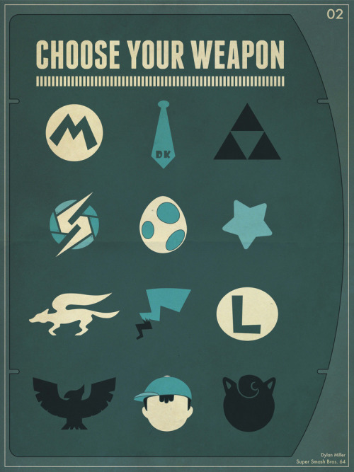 dotcore:  Choose Your Weapon!by Dylan Miller. Available at Think Geek.