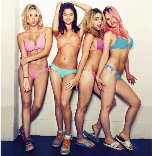 "Ashley Benson, Selena Gomez, Vanessa Hudgens and Rachel Korine in Harmony Korine's ""Spring Breakers"""