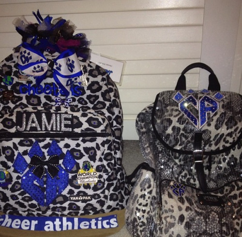 thecheerqueen:  lifeofacheerleader:  Loveeeee  I just got the bag on the right in the mail yesterday… :)<3