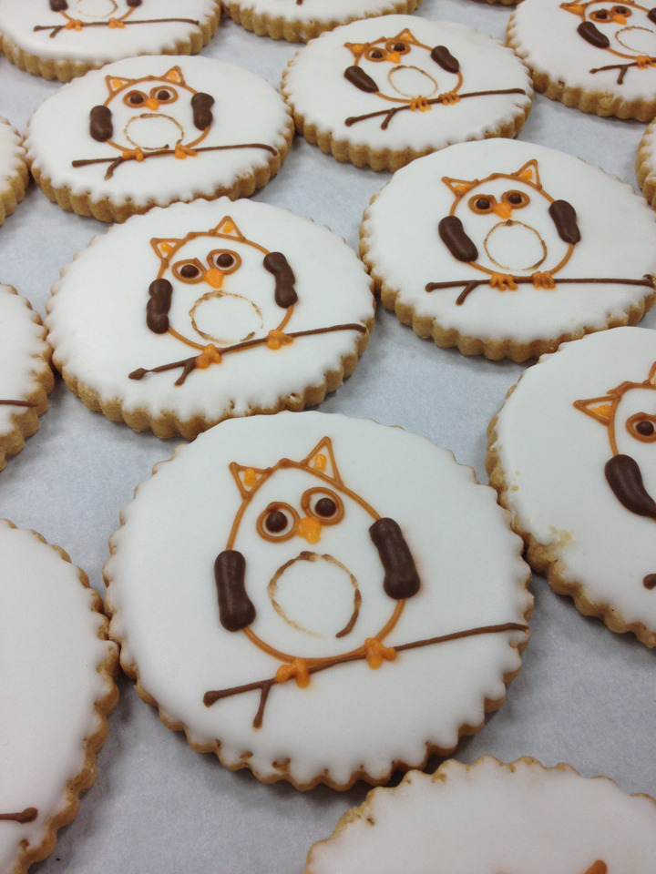 much time to blog lately? nope. super cute owl cookies? yes.