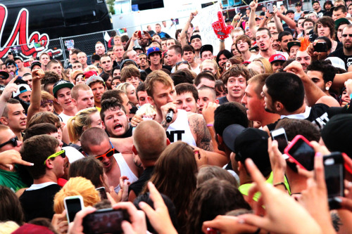 Can you spot Machine Gun Kelly? Camden got a little out of control…. (Photo credit: James Shotwell)