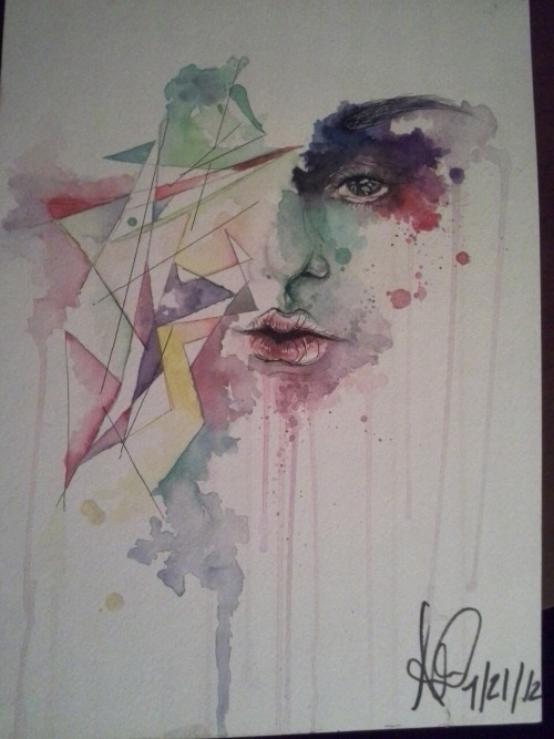 Untitled. Two hours. Water colours and pen.