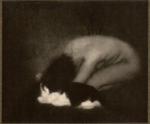 artemisdreaming:  Nude with Cat, 1903 Edward Steichen