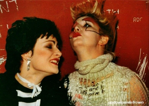 updownsmilefrown:  Siouxsie and Jordan, 1970's