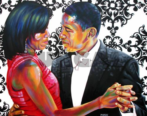 """Barack and Michelle"" by Muhammad Yungai  beautiful"