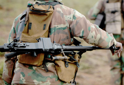 SANDF Vektor SS77, a mixture of the FN MAG and PKM