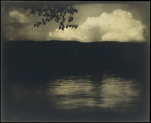 The Big White Cloud, Lake George 1903, printed 1904 Direct carbon print - Alfred Stieglitz Collection, 1933  Accession Number: 33.43.47 The Metropolitan Museum of Art Edward J. Steichen