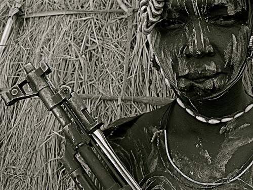 s3xual-t3ndencies:  Mursi woman with AK47 - 4 by Frank Janssens on Flickr.