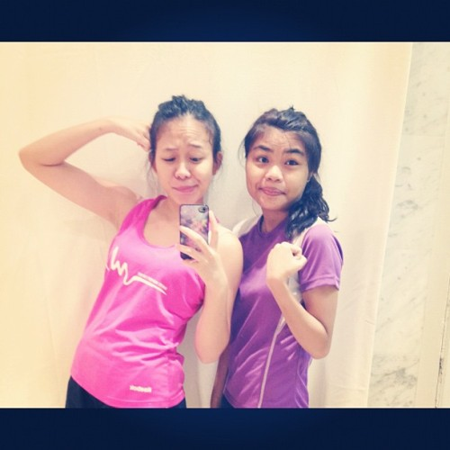 We don't want to be skinny, we want to be fit. @dddiyanah  (Taken with Instagram at True Fitness)