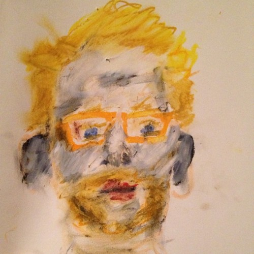Portrait of @bentarnoff. Oil Pastel on paper. (Taken with Instagram)