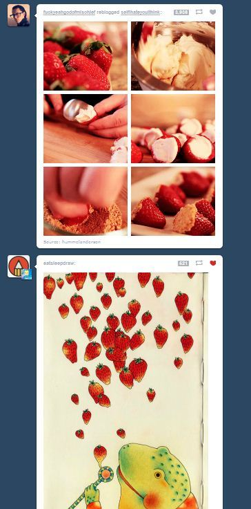 Strawberry coincidence.