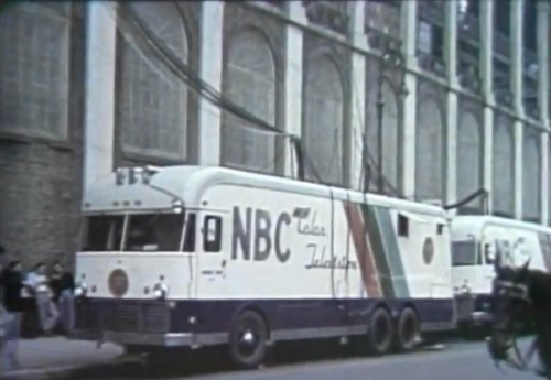 NBC COLOR TELEVISION TRUCK - ON LOCATION