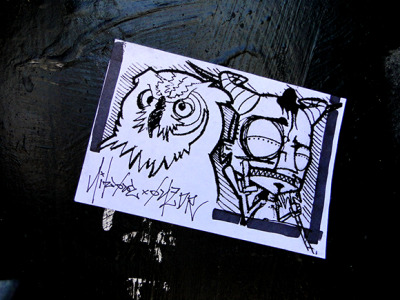 Creatures of the night.  Nite Owl. Onedr. Telegraphy @25th Street in Oakland, CA.