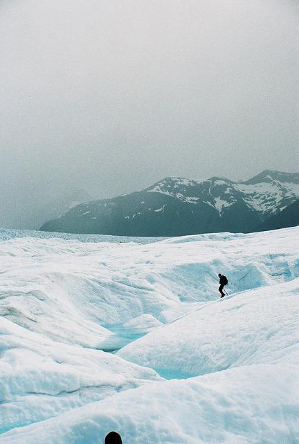 10bullets:  Lone Guide on Perito Moreno Glacier by Walk Robins on Flickr.