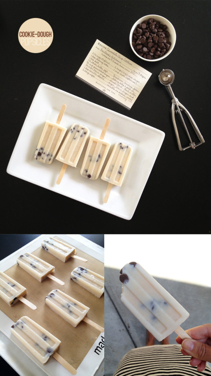 justanerdyfoodie:  Summer Treat - Cookie Dough Popsicles: recipe here [note: Made these in my Zoku and they turned out perfectly]