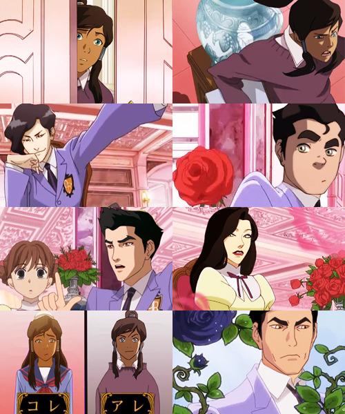 AU MEME → LEGEND OF KORRA + OURAN HIGH SCHOOL HOST CLUB→ @NAUTICALAMITY in which Korra is the new transfer student at Republic City High School, and has to hide her status as the Avatar to help pay off her debt to the host club