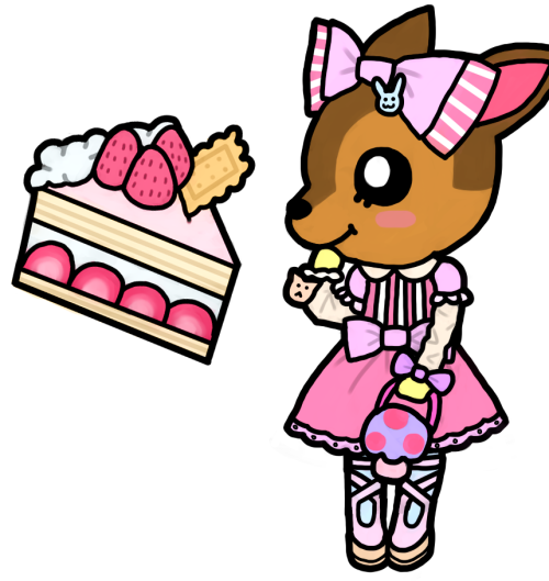 premenstrual:  New deer character (Doeraymi) from Animal Crossing: Jump Out! Asdjjkaad I haven't drawn in this style in a couple months and my hand was all shakey lool. SO im not completely satisfied with this, maybe i'll redraw her later… = ~ = As you can see I was even too lazy to draw the end of her ear LOL. -jumps into a tar pit-