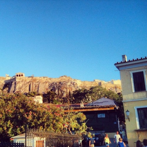 Good morning #athens #greece #plaka #momastiraki #roman #market #ancient #martket #aerides #acropolis #parthenon #erectheion #top #rock #view #nature #peace  (Taken with Instagram)