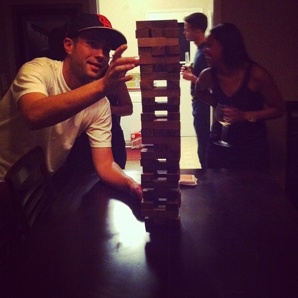 Drunk jenga @liam47 (Taken with Instagram)