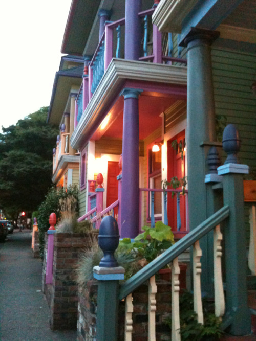 we-need-some-light:  Stroll through Portland     I can show you these houses if you ever get to visit.