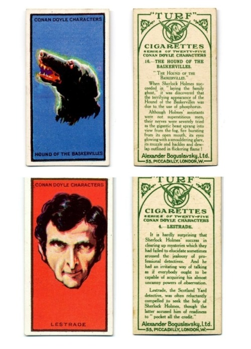 Turf Cigarette cards created by Alexander Boguslavsky, Ltd. 1923From the late 19th century to early 20th, cards were included in cigarette packs as a way 'stiffen' the packaging.  Cigarette cards were also a way to advertise, creating a desire to collect the limited images.For additional cards in this series click  here.Please don't smoke