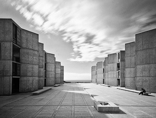 thedesigninsomniac:   The Salk Institute. Torrey Pines, CA (Louis Kahn)