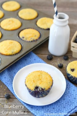 Delicious blueberry corn muffins… Recipe